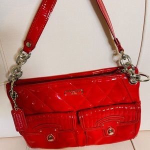 Coach Poppy in red patent